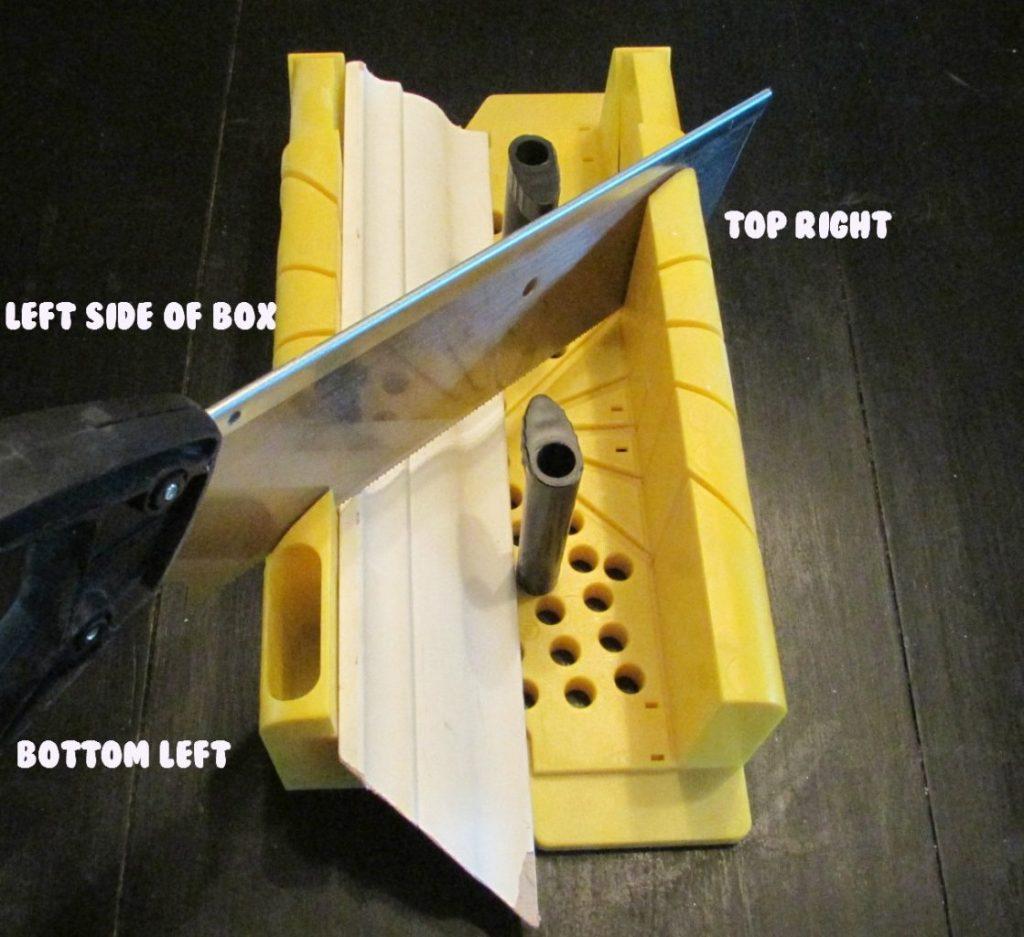 miter box for crown moulding left corner