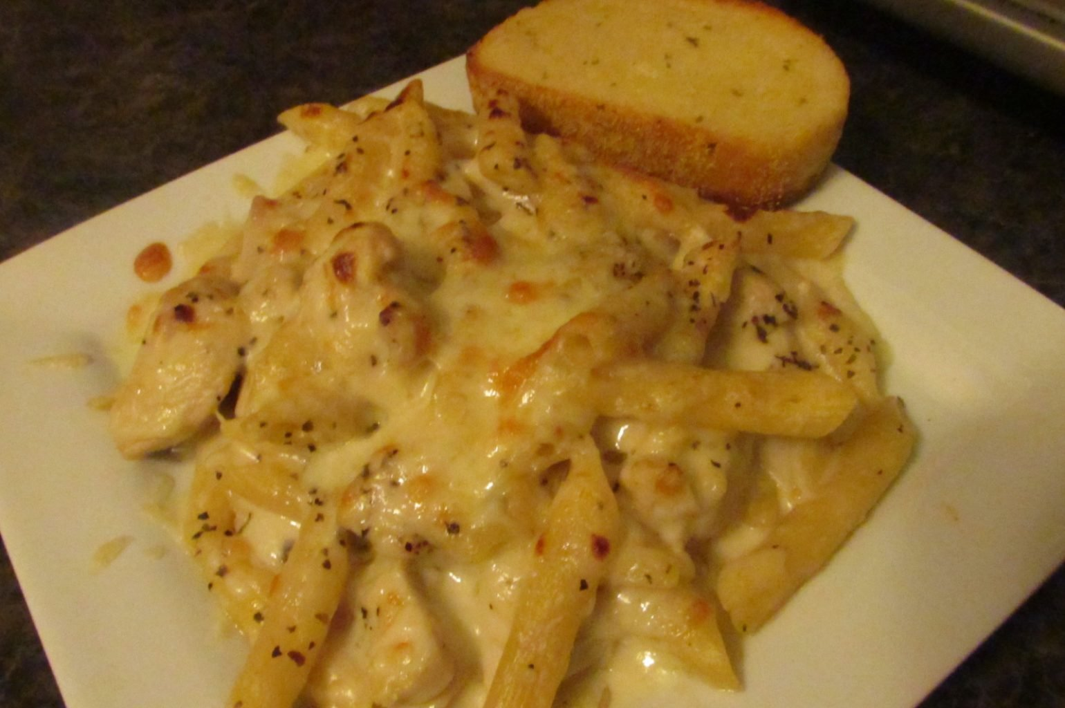One-dish cheesy chicken penne