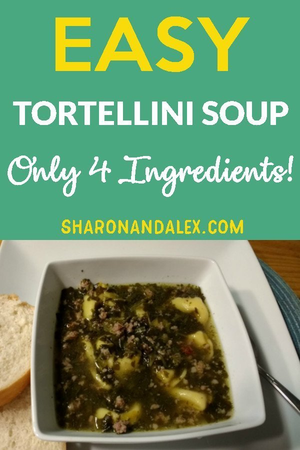 This is such a great recipe for tortellini soup. You only need 4 ingredients and a little time. Your family will thank you for making this soup!