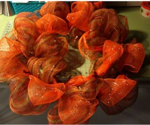 Deco mesh wreath 2nd ribbon