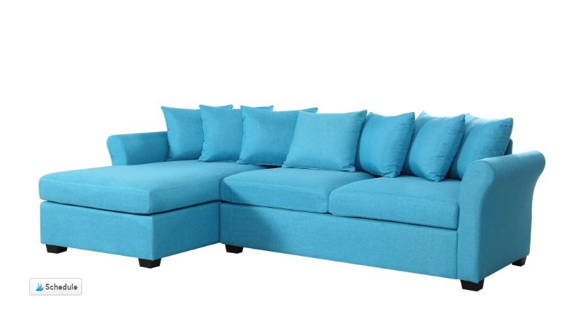 A blue sectional