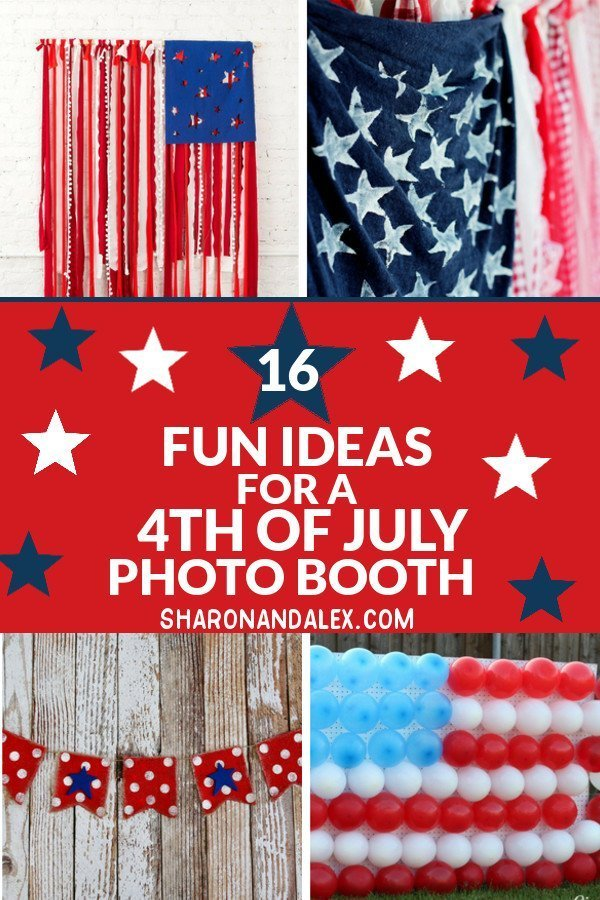 Take your 4th of July party to next level awesomeness with these great ideas for a 4th of July photo booth. #4thofJuly #photoboothideas