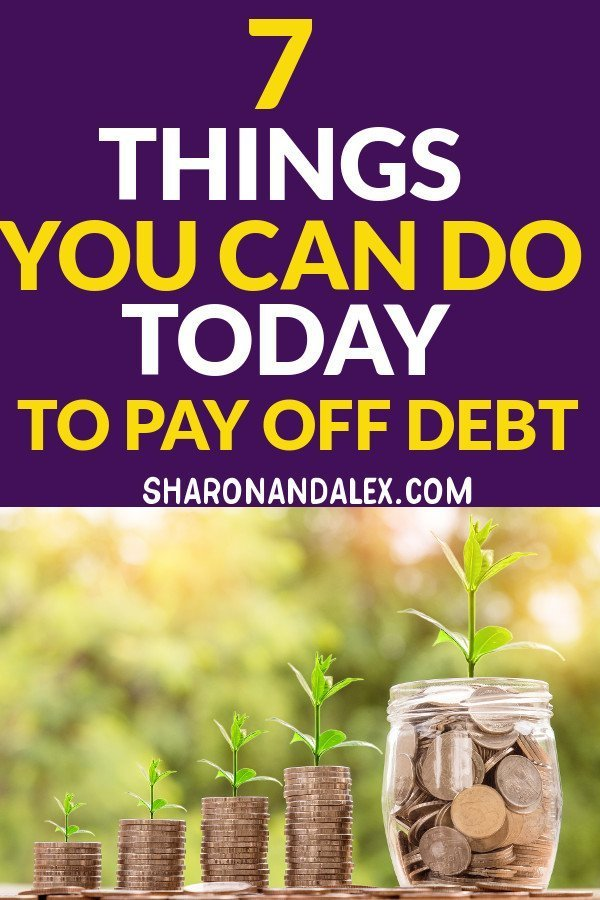 If you're dealing with a lot of debt, it's stressful and impacts every part of your life. Here are 7 things you can do today to get your debt paid off and live a happier life.