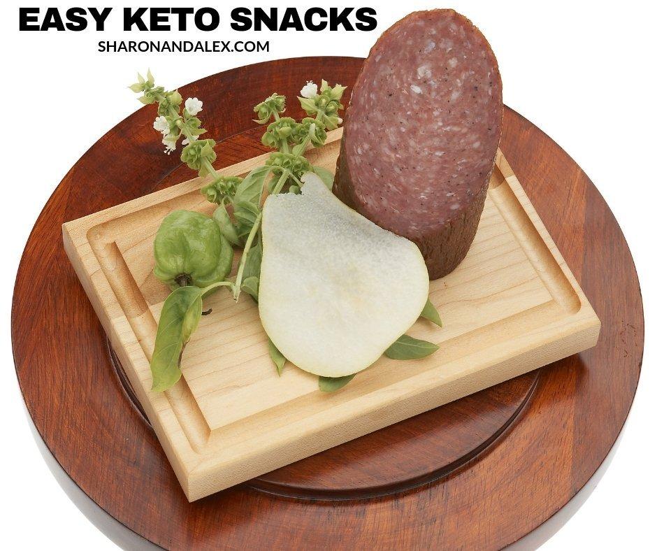 Easy Keto Snacks Salami and Cheese