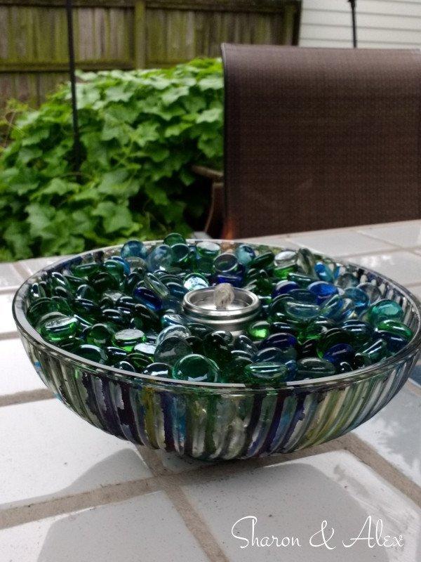 Boob Light Fire Bowl - Lit