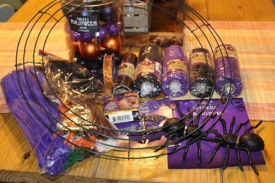 Deco Mesh Halloween Wreath Supplies