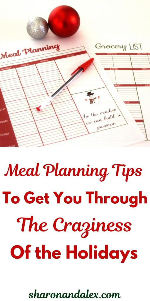 Meal Planning Tips To Get You Through the Holidays