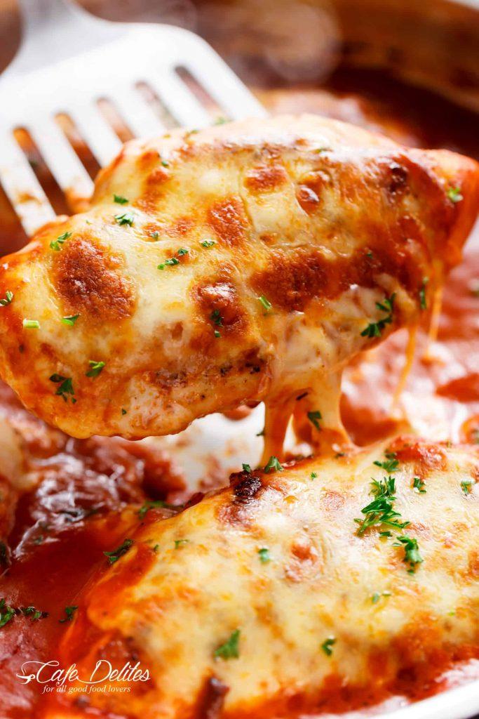 Mozzarella Chicken - Cafe Delites