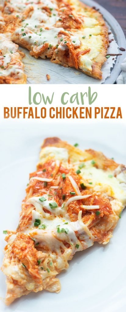 Low Carb Buffalo Chicken Pizza - That Low Carb Life
